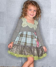 Look at this Gray Chloe's Closet Ruffle Dress - Toddler & Girls on #zulily today!