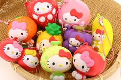 Such a cute squishy collection! - hello kitty fruits series