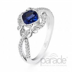 Riddle's Jewelry Ladies Parade™ White Gold Sapphire and Diamond Ring (11872641)