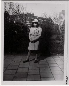 Portrait of Anne Frank modeling a new coat. [Photograph #55022]            Date:1941  Locale:Amsterdam, [North Holland] The Netherlands  Credit:United States Holocaust Memorial Museum, courtesy of Eva Schloss  Copyright:United States Holocaust Memorial Museum
