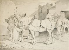 Whether part of the Napoleonic legend or struggling workhorses... horses were an inexhaustible source of inspiration for Théodore Géricault. During his stay in London in 1820-21, the artist made many studies of plough and draft horses. Arnoldi-Livie presents this pen, ink and grey wash drawing at the Salon du dessin 2017.