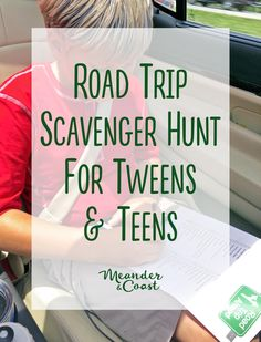 A Printable Travel Scavenger Hunt for Tweens and Teens makes a great family road trip activity. This list combines harder items to find with some that are funny and kind of icky, perfect for older kids and adults too!