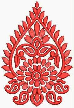 Cushion Embroidery, Hand Embroidery Stitches, Embroidery Patches, Border Embroidery Designs, Machine Embroidery Designs, Embroidery Patterns, Folk Embroidery, Stencil, Graph Design