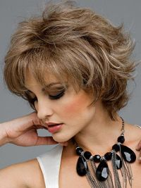 Graceful Short Wavy Synthetic Wigs Large Cap Synthetic Med Blk Grey Wigs Rene of Paris Wigs Lizzy Short Synthetic Wig - June 08 2019 at Short Hairstyles For Thick Hair, Cute Short Haircuts, Short Hairstyles For Women, Short Hair Cuts, Wig Hairstyles, Curly Hair Styles, Natural Hair Styles, Hairstyles 2016, Pixie Cuts