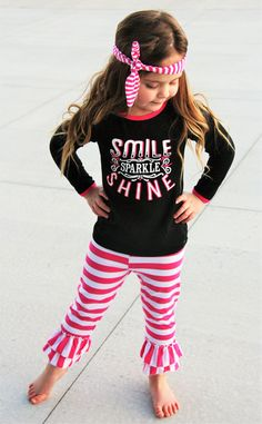 """Smile Sparkle Shine"" Boutique Set #boutique-outfits #clearance #daily-deal #daily-deals #new #perfect-sets"