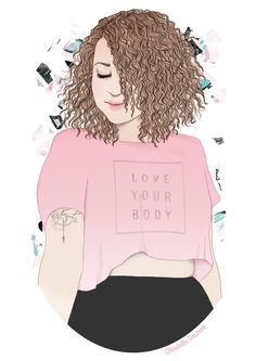Girl Cartoon, Cartoon Art, Plus Size Art, Fat Art, Positive Art, Girl Sketch, Feminist Art, Curvy Girl Fashion, Loving Your Body