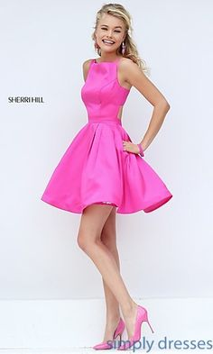 Short Sleeveless Sherri Hill Party Dress