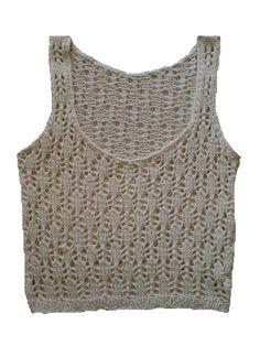 Handmade, Handknit Tank Top Made Of Cotton Yarn from Picsity.com