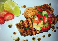 Mojito Lime grilled Salmon & Strawberry Pineapple Pico Recipe -  Are you ready to cook? Let's try to make Mojito Lime grilled Salmon & Strawberry Pineapple Pico in your home!