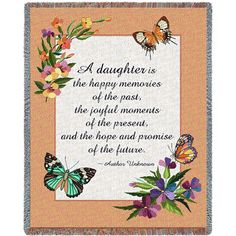 A Daughter Is Art Tapestry Throw