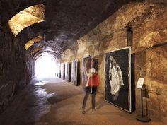 Post Classici art instalaltion from the artist Gianluigi Colin. Roma Fori Imperiali Nerone's cripta. An alternative Self Portrait