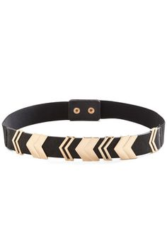 Chevron the Right Path Belt in Black. Youre sure to feel a spring in your step when youre sporting this fresh black belt! #blackNaN