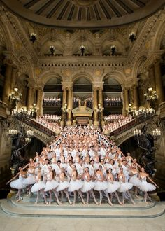 students of ballet at the paris opera stairs | Paris Opera Ballet | interior architecture