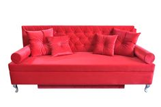 Sofa baroque red en