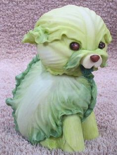 Cabbage Dog from Home Grown Vegetable Figurines