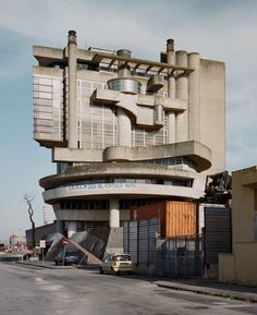 """The abandoned brutalist Casa Del Portuale, a building for """"Social Services for…"""