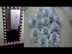 DIY - Fazendo flores de papel e decorando o espelho! - YouTube