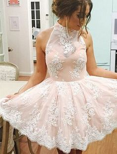 Lace Homecoming Dresses,Dramatic A-line Homecoming Gown,High Neck Homecoming… - black cocktail dresses, discount dresses, white evening dresses *sponsored https://www.pinterest.com/dresses_dress/ https://www.pinterest.com/explore/dresses/ https://www.pinterest.com/dresses_dress/quinceanera-dresses/ https://www.bardot.com/shop/dresses/