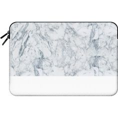 Macbook Sleeve - Modern blue white trendy marble texture pattern ($60) ❤ liked on Polyvore featuring accessories, tech accessories and macbook sleeve