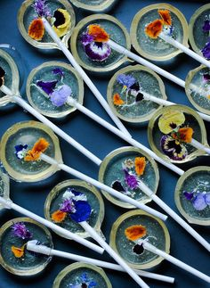 Edible Flower Lollipops Recipe.