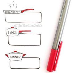 """Apsi's sketchnotes and doodles en Instagram: """"Meal planning borders..."""