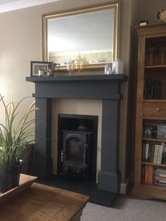 Old Pine Fire Surround upcycled using Annie Sloan Chalk Paint in ...