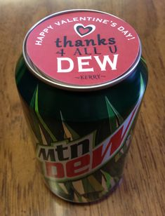 Made for my employees with Avery labels employee recognition Thanks for all you DEW. Label on Mountain Dew employee staff recognition Employee Appreciation Gifts, Volunteer Appreciation, Employee Gifts, Volunteer Gifts, Staff Gifts, Teacher Gifts, Team Gifts, Cyber Monday, Monday Tuesday