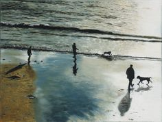 charmouth beach painting