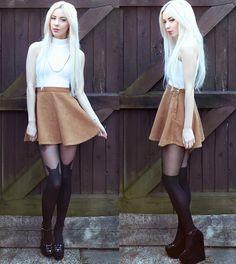 Leanne Lim-Walker - Crop top and skirt by American Apparel