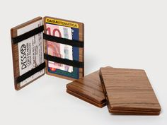 Wood Wallet Walnut by RESSO on Etsy