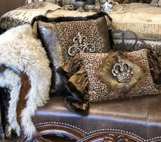 Decorative Pillows are the fastest way to give a room a fresh look. And Reilly-Chance has hundreds of accent pillows for you to choose from! And FREE SHIPPING within the contiguous US Contact us today! Sofa Pillows, Accent Pillows, Throw Pillows, Cushions, Leopard Room, Animal Print Rooms, Cream Decor, World Decor, Ranch Decor