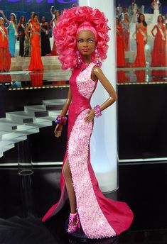 Miss Atlanta 2013 by Ninimomo Dolls Barbie Gowns, Barbie Hair, Barbie Clothes, Barbie Miss, Diva Dolls, Dolls Dolls, African American Dolls, Poppy Parker, Barbie Collection