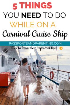 Have you ever cruised Carnival before? To make sure you don't waste time on your next vacation I want to tell you 5 things you need to do on a Carnival Cruise Ship so you can get the most out of your time there. hotel restaurant travel tips Ton Cruise, Honeymoon Cruise, Bahamas Cruise, Cruise Travel, Caribbean Cruise, Cruise Vacation, Cruise Packing, Europe Packing, Cruise Wedding