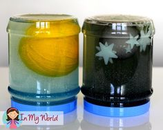 Sun, Moon and star exploration jars. Creation Story Day 4