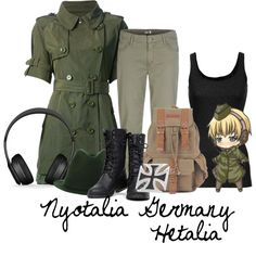 """Nyotalia Germany {Hetalia}"" by happilyrainbow on Polyvore"