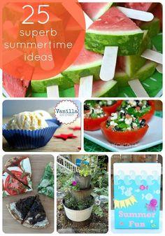 Summer Ideas. 25 of them!