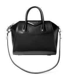 Givenchy Small Antigona Bag in Black Leather Source by bag Ann Demeulemeester, Black Designer Bags, Designer Handbags, Leather Purses, Leather Handbags, Burberry Handbags, Calf Leather, Black Leather, Alexander Mcqueen