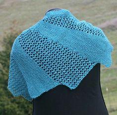 Dialog Knit Shawl by Linda Dean