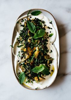 Roasted Golden Beets with Lentils, Soft Herbs, and…