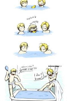 America and England bath comic. Makes me laugh. This is what I do when I see a spider in the pool