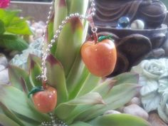 Apple earrings and necklace...jummy! :-)