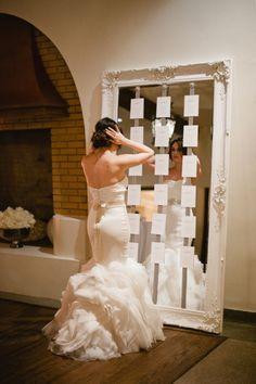 Plan de table en mirroir. Noces de Cana - Wedding planner www.nocesdecana.net www.nocesdecana.be