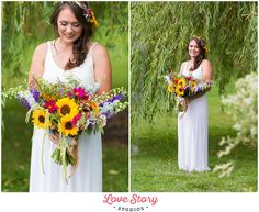 Copyright Love Story Studios www.lovestorystudiosnj.com Boho Themed Wedding South Jersey Wedding Photography A Garden Party Florist Your Day Your Way Hair and Makeup Sunflowers