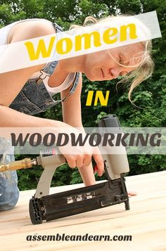 Learn Woodworking More and more women are getting into starting a woodworking business. Learn more about how to start money making woodworking right from your home. Woodworking Courses, Woodworking Shows, Beginner Woodworking Projects, Popular Woodworking, Woodworking Furniture, Custom Woodworking, Fine Woodworking, Woodworking Crafts, Youtube Woodworking
