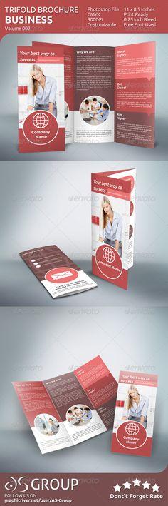 Business Tri-fold Brochure - v002