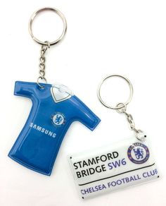 Chelsea Football CFC Official FA Stamford Road Samsung Shirt Kit Keyring Torches in Sports Memorabilia, Football Memorabilia, Keyrings | eBay