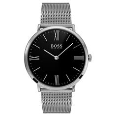 Hugo Boss Men's 'Jackson' Stainless Steel Watch, Silver Size: One Size Fits All Burberry Men, Gucci Men, Stainless Steel Watch, Stainless Steel Bracelet, Cool Watches, Watches For Men, Men's Watches, Hugo Boss Watches, Jackson