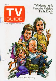 All in the Family TV Guide Jack Davis Illustration November 20 -26, 1971