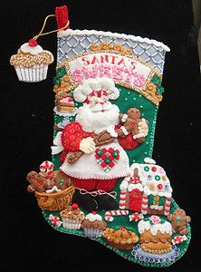 Santa's sweets felt stocking