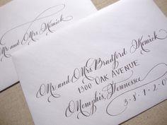 Calligraphy Envelope AddressingThe Savannah by AbigailTCalligraphy